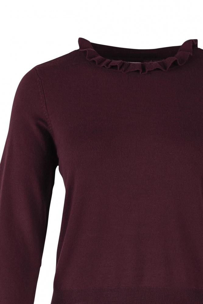 1e236832 Peplum sweater bordeaux, Saint Tropez - Ivyelli
